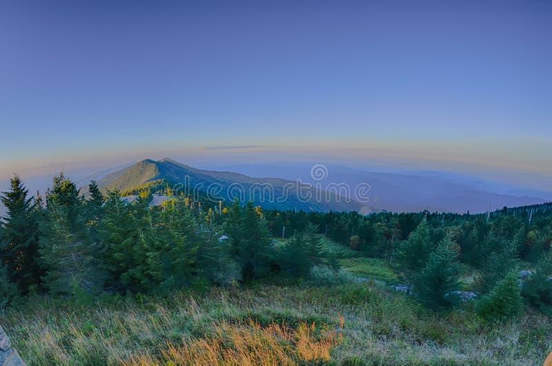 Odgórna góra Mitchell przed zmierzchem zdjęcia royalty free