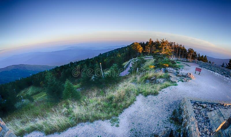 Odgórna góra Mitchell przed zmierzchem fotografia stock