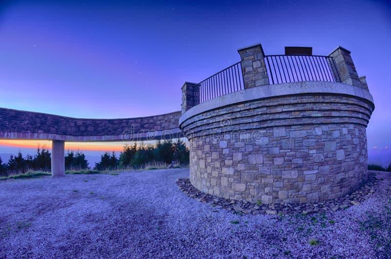 Odgórna góra Mitchell przed zmierzchem zdjęcie royalty free