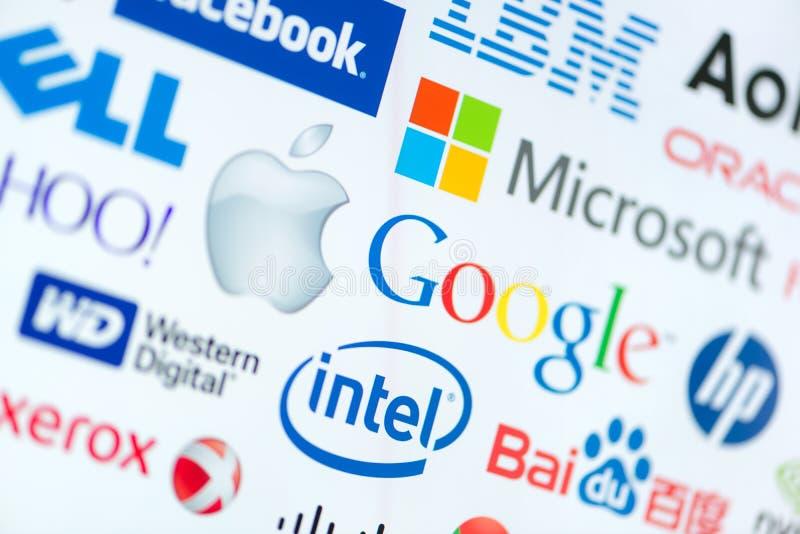 Odgórne komputerowe korporacj firmy zdjęcie stock