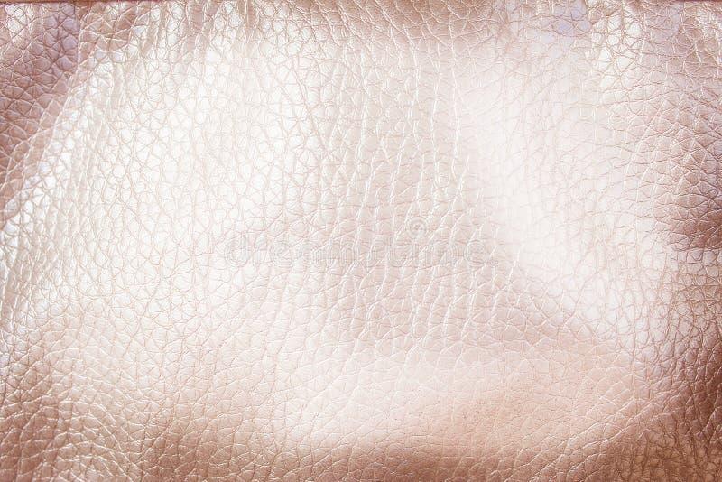 Odgórnego widoku bezszwowy leatherette deseniuje tło, jasnobrązowy abstrakt fotografia stock