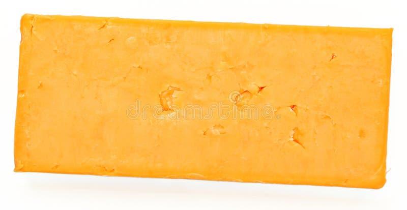 Odgórnego widoku blok cheddaru ser obrazy stock