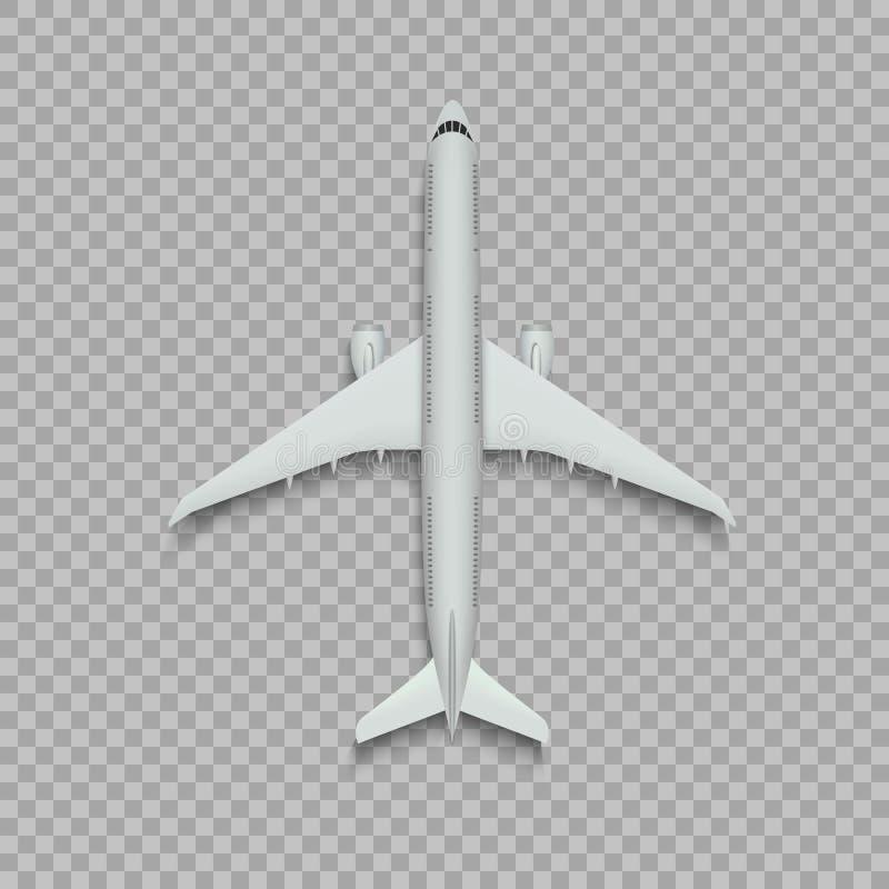 Odgórnego widoku samolot royalty ilustracja