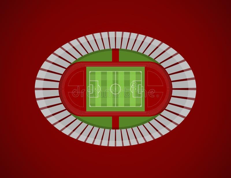 Odgórnego widoku stadium Olimpijski wektor royalty ilustracja