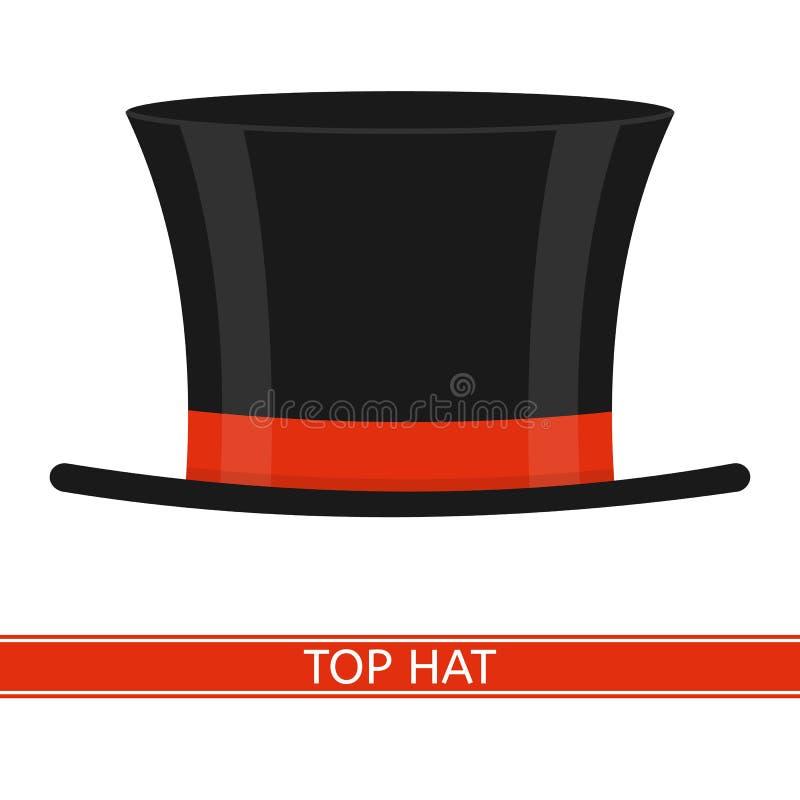 Odgórny kapelusz odizolowywający royalty ilustracja