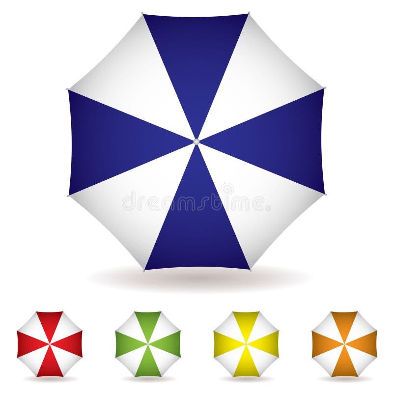 odgórny kolekcja parasol ilustracja wektor