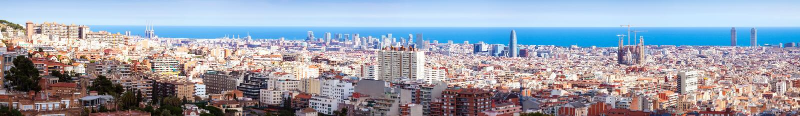 Odgórny panoramiczny Barcelona jakby obraz stock