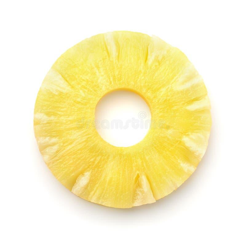Odgórny widok ananasowy plasterek zdjęcie stock