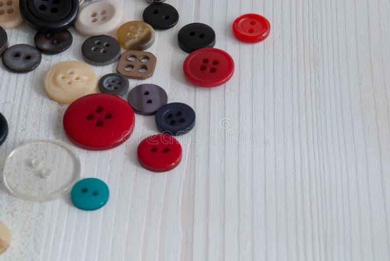Odgórny widok barwioni guziki zdjęcie royalty free