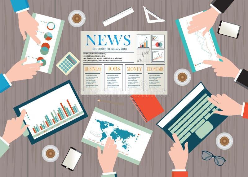 Odgórny widok biznesowy workspace royalty ilustracja