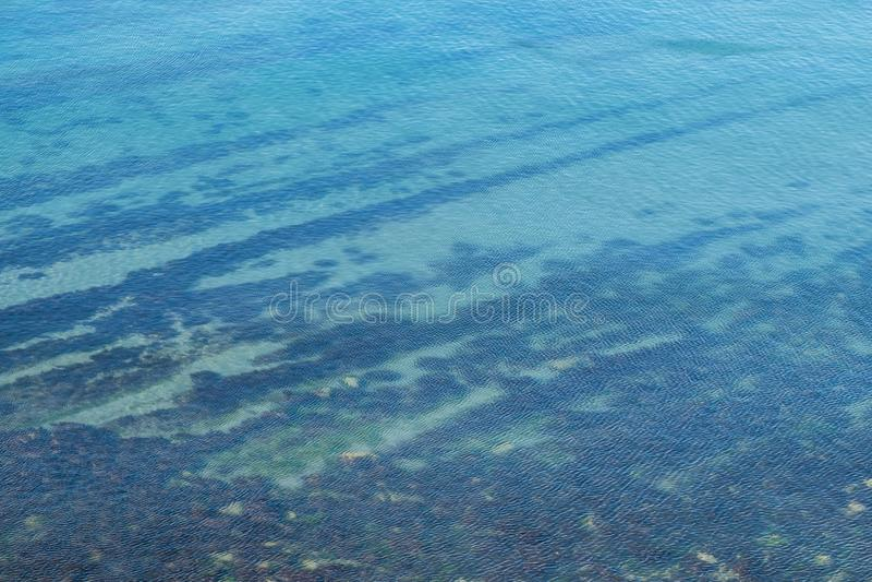 Odgórny widok czarny morze spokój obrazy stock