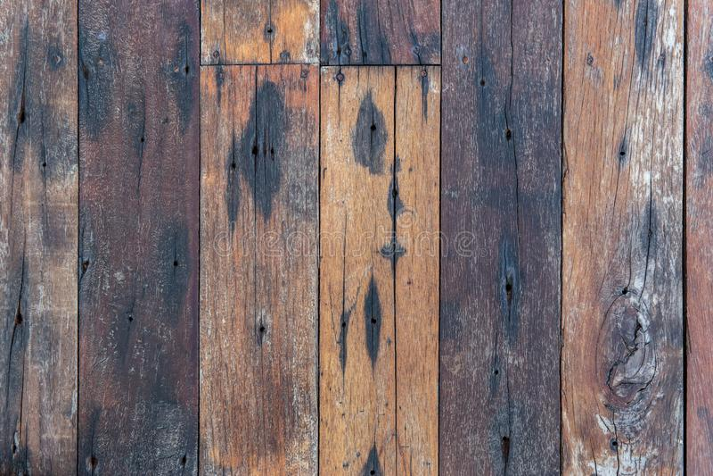 Odgórny widok drewniana ściana kolorowego lub wielo- podłoga dla tło tekstury lub zdjęcia royalty free