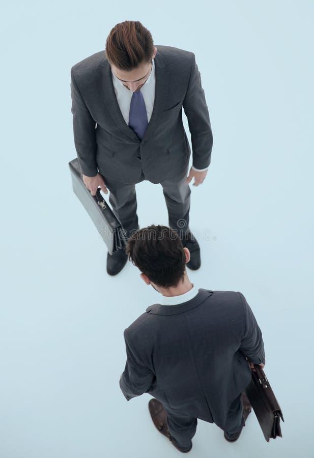 Odgórny widok dwa biznesów konkurent zdjęcie royalty free