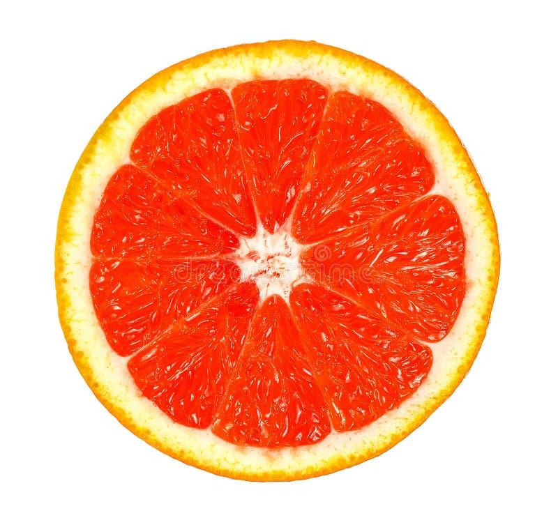 Odgórny widok grapefruits odizolowywający na białym tle fotografia royalty free