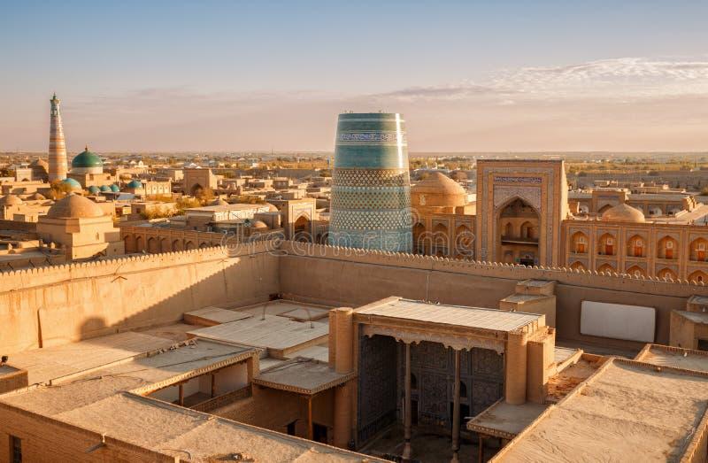 Odgórny widok Khiva obraz royalty free