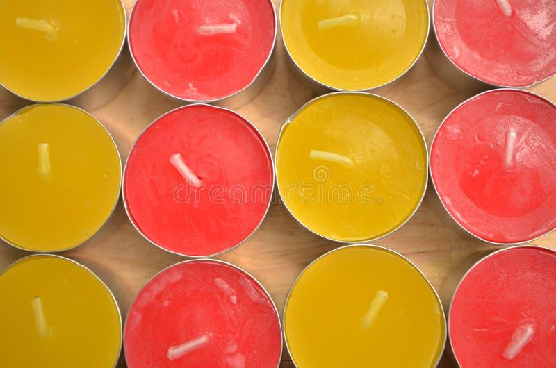 Odgórny widok kolor świeczki zdjęcie stock