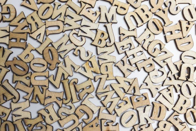 Odgórny widok listy abecadło - tło od listów abecadło zdjęcie royalty free