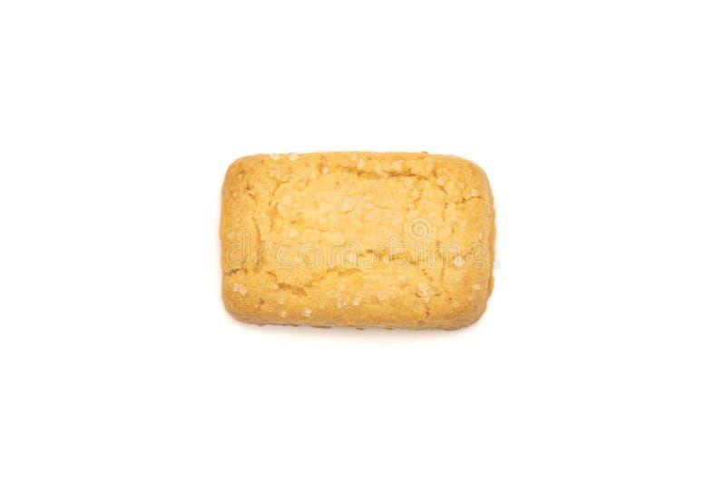 Odgórny widok masła ciastko zdjęcie royalty free