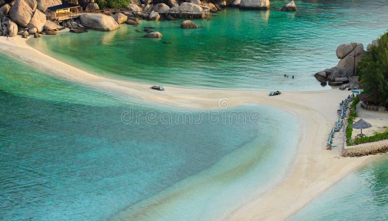 Odgórny widok nang yaun wyspy plaży piękny denny miejsce przeznaczenia zdjęcia stock
