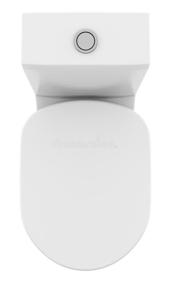Odgórny widok nowożytny trwanie toaletowy puchar odizolowywający na bielu ilustracja wektor