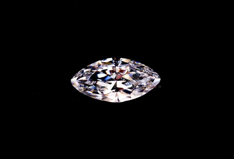 Odgórny widok odizolowywający na czerni diament fotografia stock