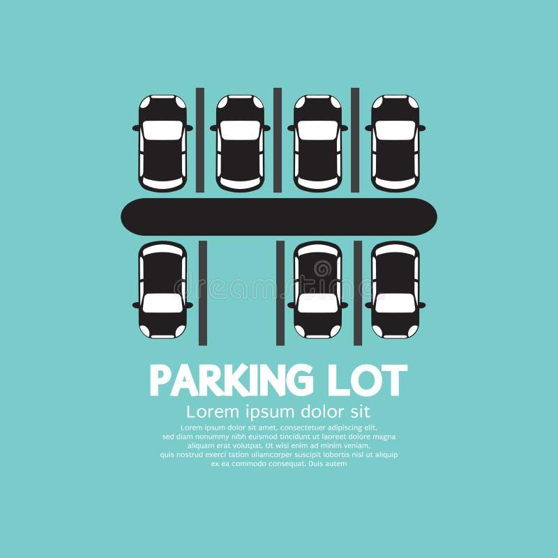 Odgórny widok parking ilustracji