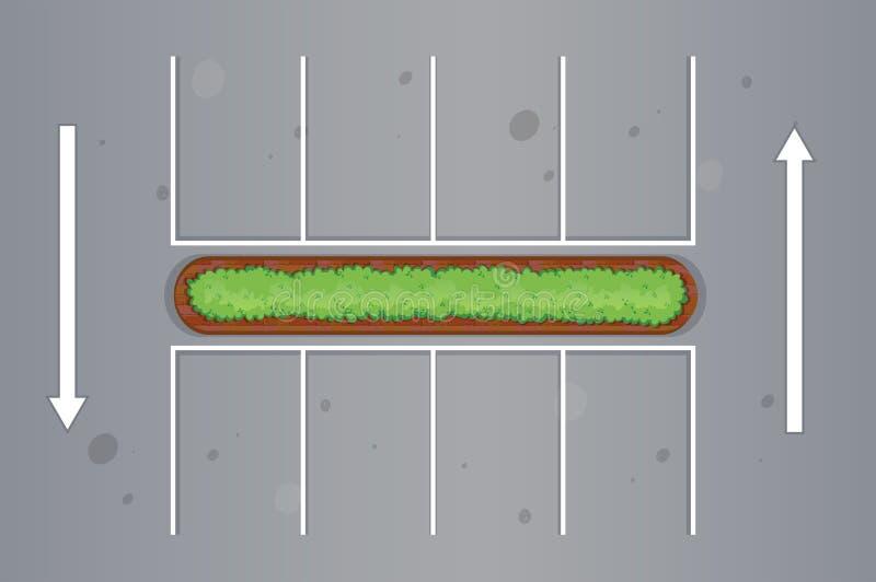 Odgórny widok parking samochodowy ilustracja wektor
