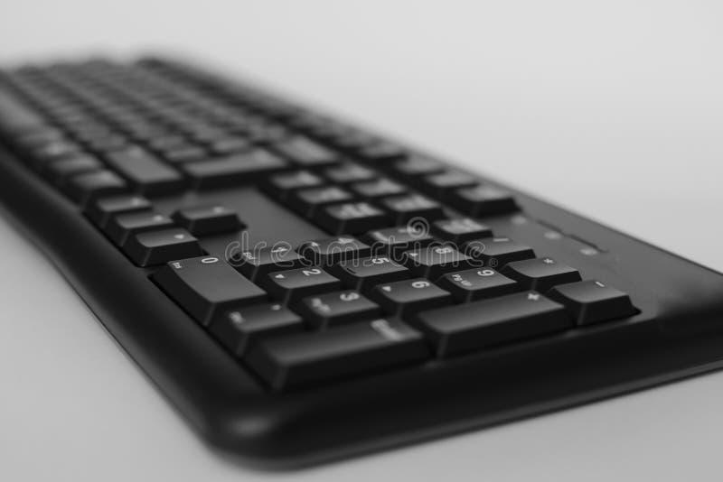 Odgórny widok Pełnych rozmiarów komputer stacjonarny klawiatura odizolowywająca na białym tle z ścinek ścieżką inside obrazy stock