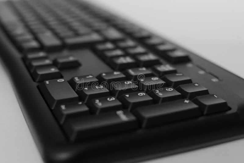 Odgórny widok Pełnych rozmiarów komputer stacjonarny klawiatura odizolowywająca na białym tle z ścinek ścieżką inside zdjęcia royalty free