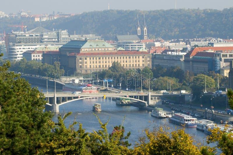 Odgórny widok Praga zdjęcie stock
