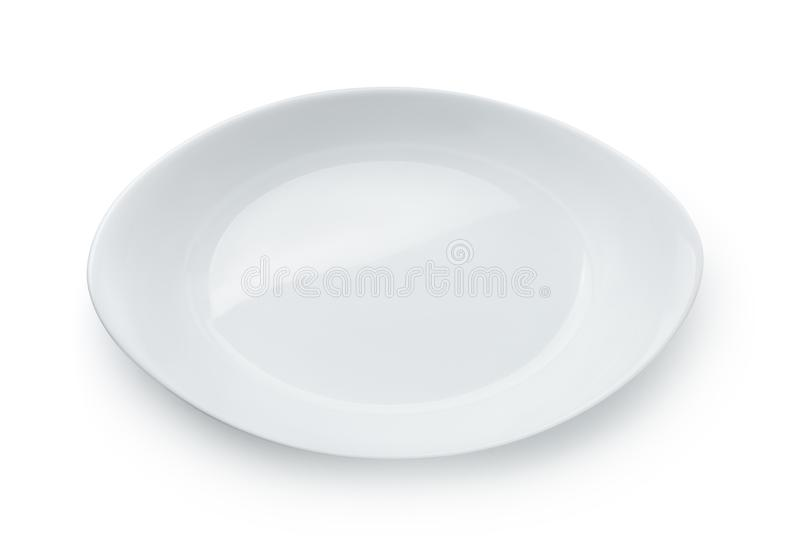 Odgórny widok pusty ceramiczny pieczenia naczynie zdjęcie stock