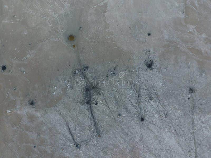 Odgórny widok słonego jeziora błota źródła Zewnętrznie podobieństwo z kraterami Borowinowe lecznicze wiosny zdjęcie royalty free