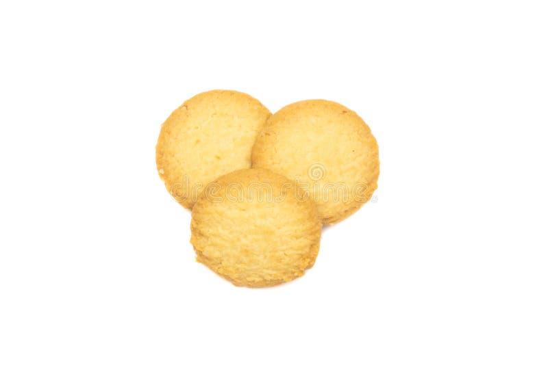 Odgórny widok trzy masła ciastka zdjęcia royalty free