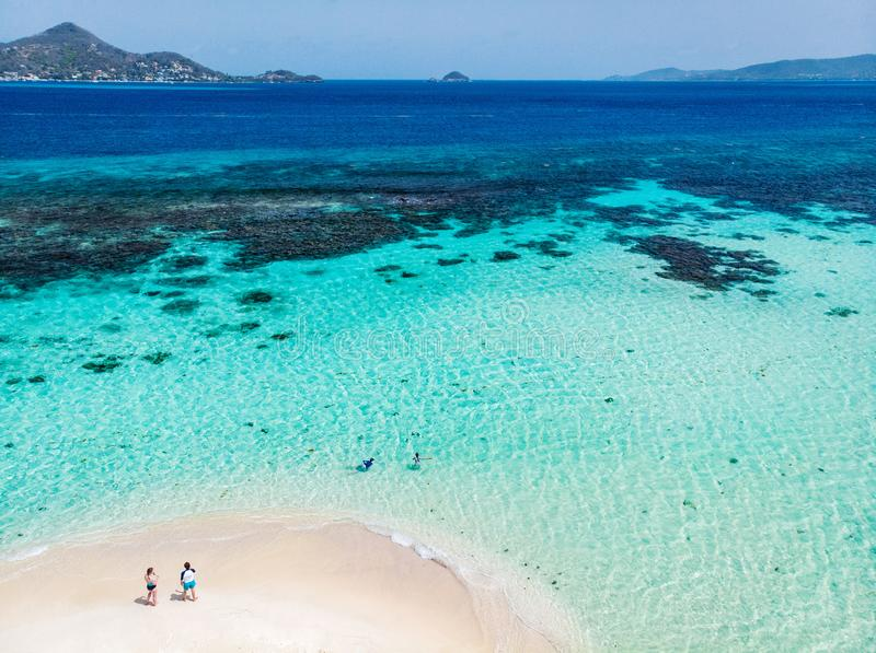 Odgórny widok wyspa karaibska obraz stock