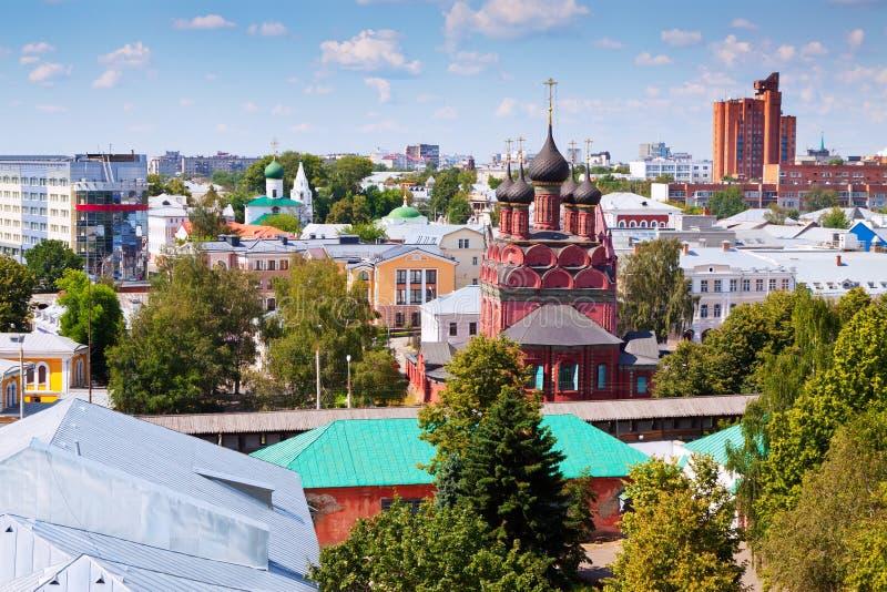 Odgórny widok Yaroslavl obraz royalty free