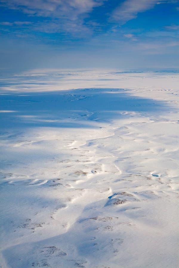 Odgórny widok zimy tundra obrazy stock