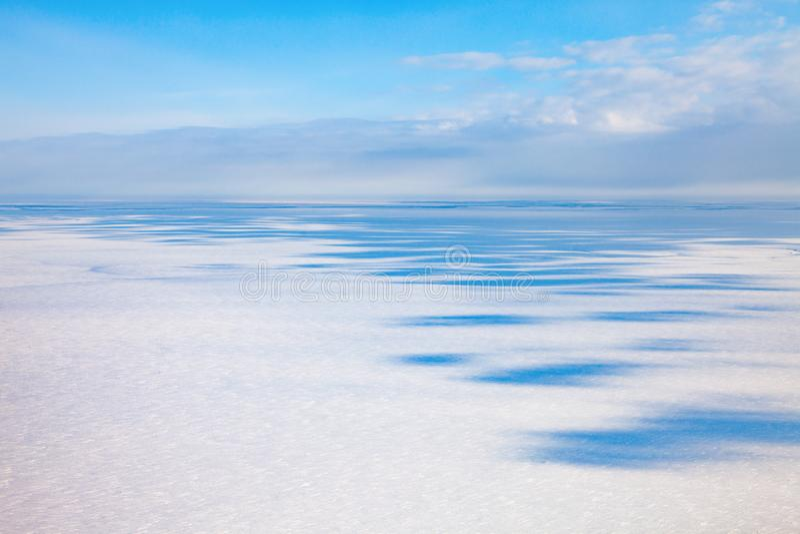 Odgórny widok zimy tundra zdjęcia stock