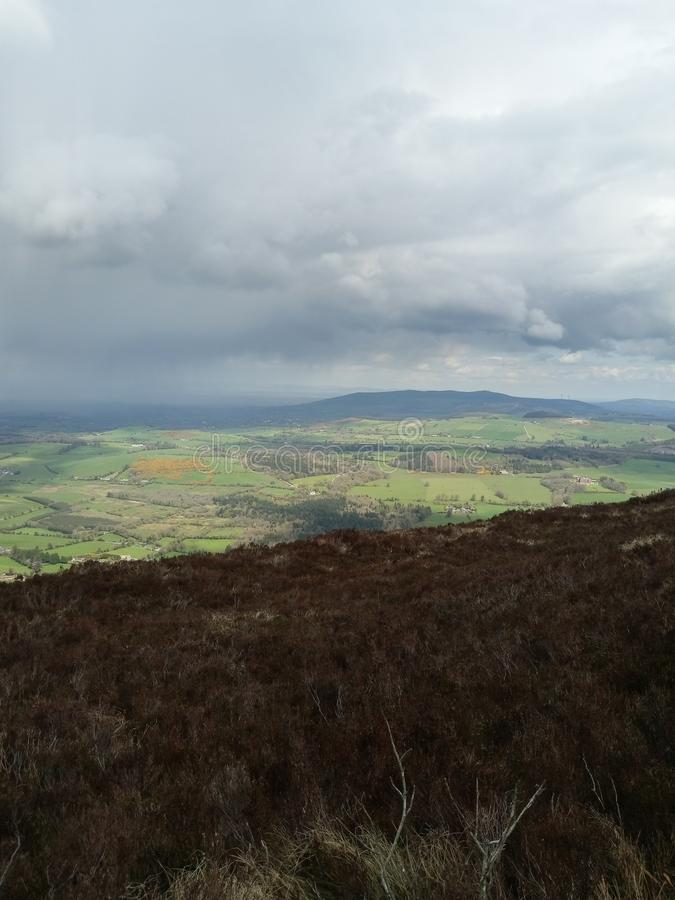 odgórny wzgórze widok zdjęcie stock