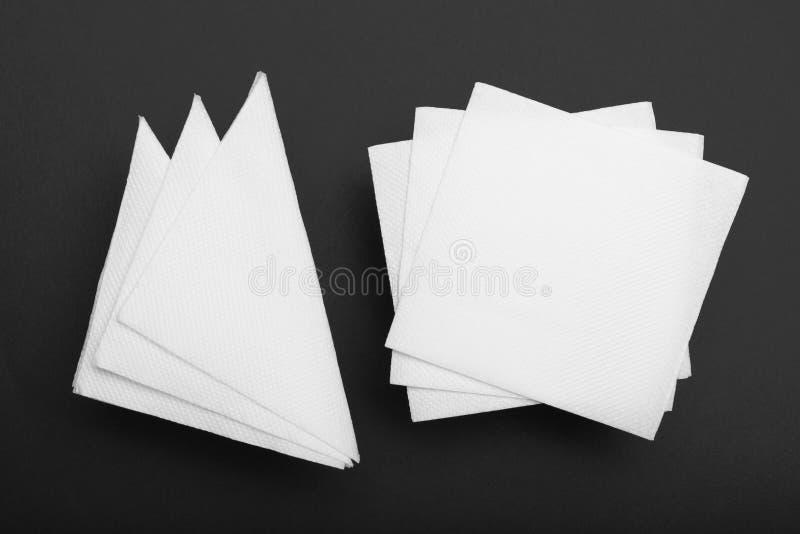 Odg?rnego widoku pieluchy mockup, papierowa tkanka Odg?rny widok ilustracja wektor