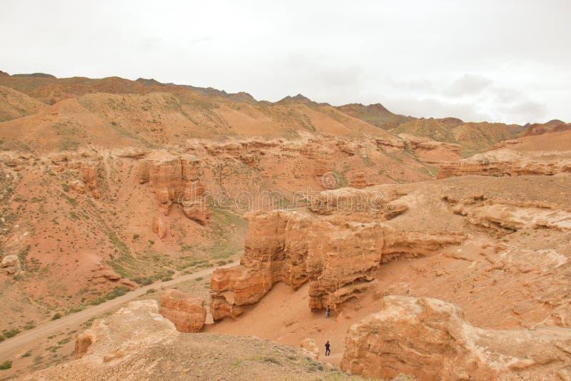 Odg?rny miejsce przeznaczenia w Kazachstan: Charyn Canon, Almaty region obraz stock