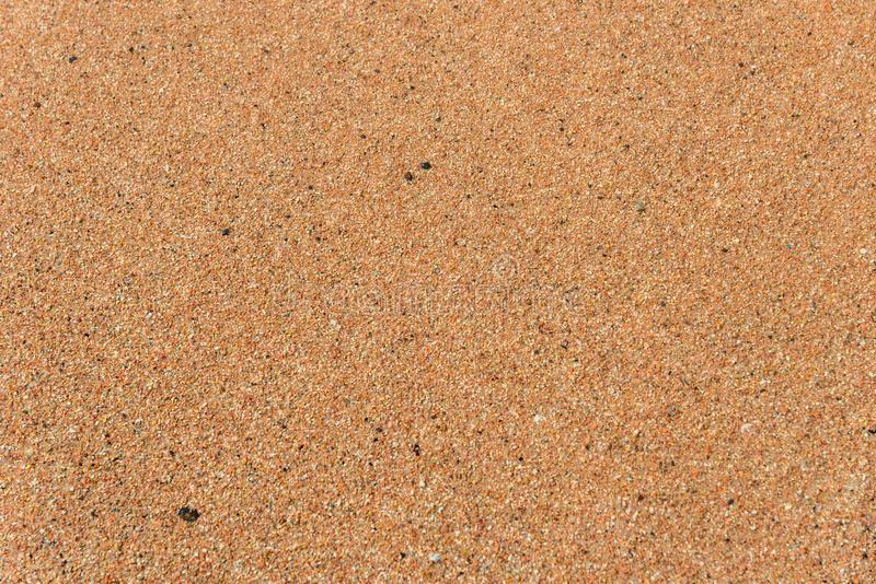 Odg?rny widok piaskowata pla?a T?o z kopii astronautyczn? i widoczn? piasek tekstur? zdjęcie royalty free