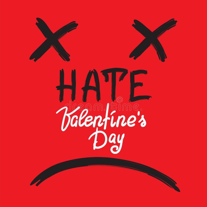 Odie el día de tarjetas del día de San Valentín - anti-tarjeta manuscrita, anti-enhorabuena, libre illustration