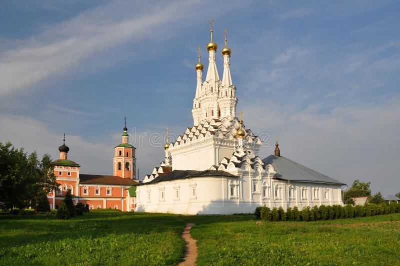 Odigitrievsky church in the town of Vyazma. Russian federation stock images
