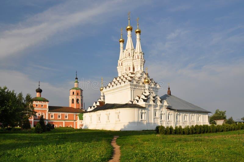 Odigitrievsky kyrka i staden av Vyazma arkivbilder