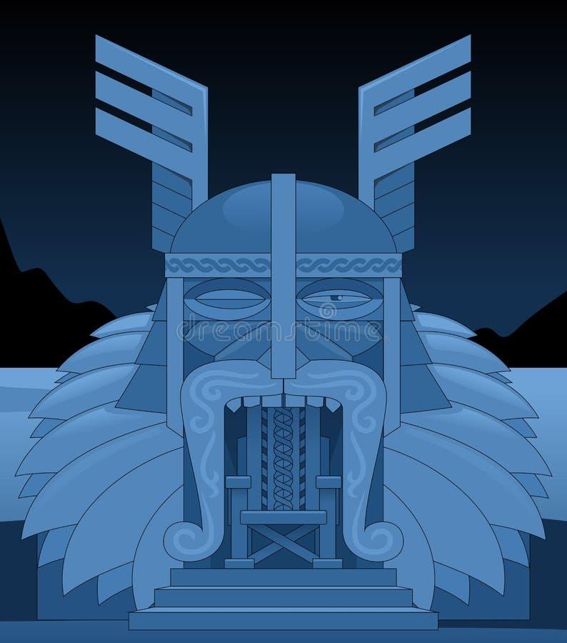 Odin王位  免版税库存照片