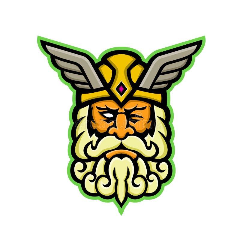 Odin Norse God Mascot libre illustration