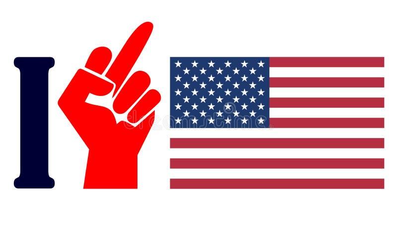 Odio América libre illustration