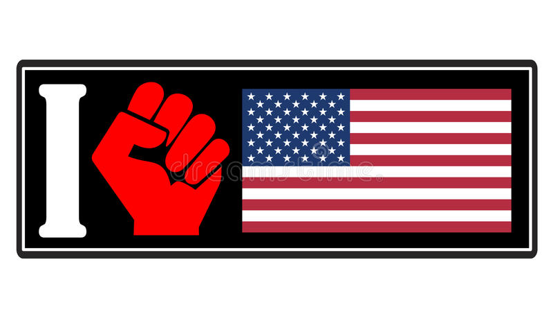 Odio de América stock de ilustración