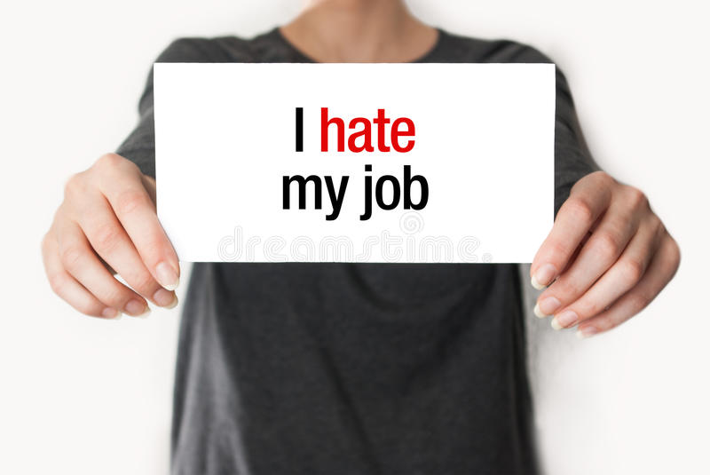 Odio il mio lavoro immagine stock libera da diritti