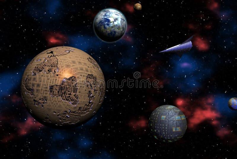 Odisea del espacio ilustración del vector